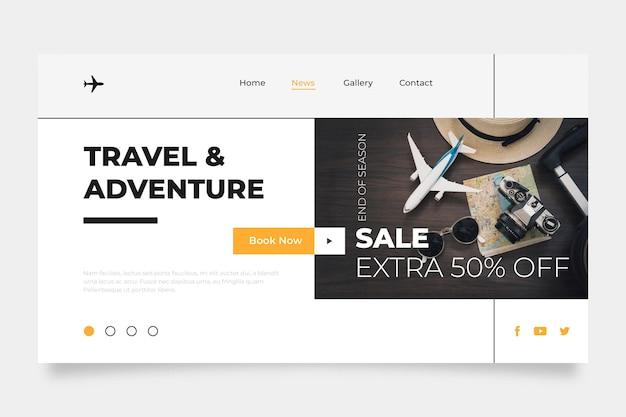 Modello di pagina web di vendita di viaggio