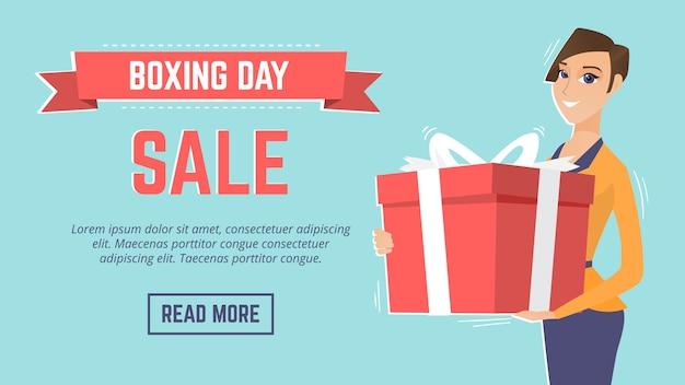 Modello di pagina web evento di vendita giorno di santo stefano.