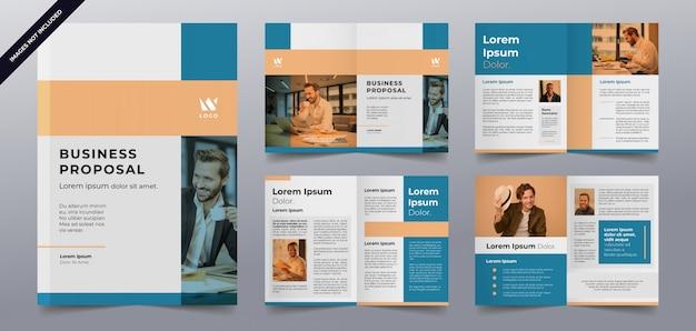 Modello di pagine brochure aziendale