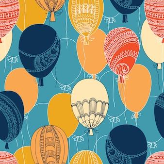 Modello di palloncini colorati volanti