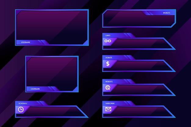 Modello di pannelli di flusso twitch