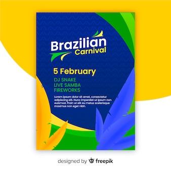 Modello di partito di carnevale brasiliano flyer