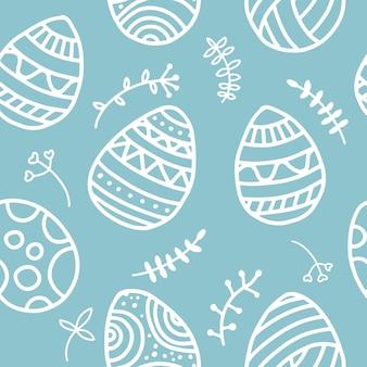 Modello di pasqua con le uova