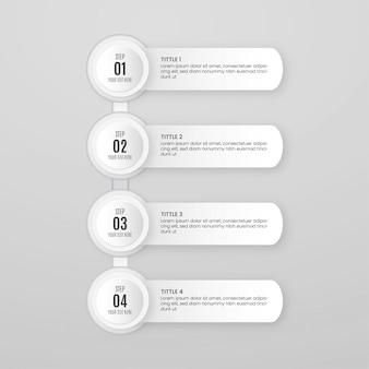 Modello di passaggi di infografica minima