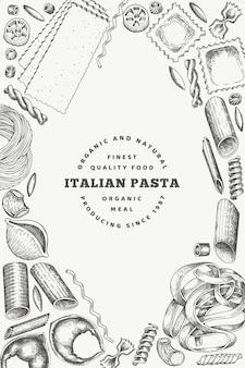 Modello di pasta italiana.