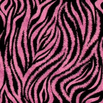 Modello di pelle zebra rosa senza soluzione di continuità. affascinante stampa zebrata della pelle