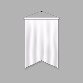 Modello di pennant realistico. bandiera 3d vuota.