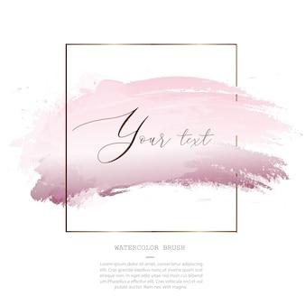 Modello di pennello spruzzata rosa acquerello decorativo