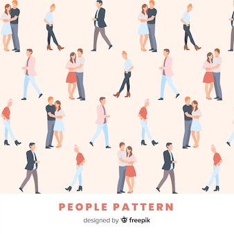 Modello di persone disegnate a mano