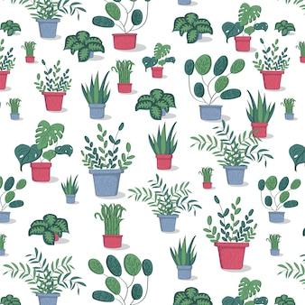 Modello di piante in vaso