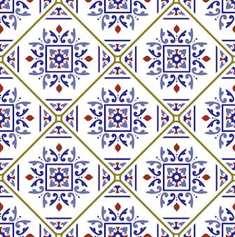 Modello di piastrelle decorative