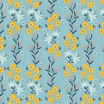 Modello di piccoli fiori gialli della primavera