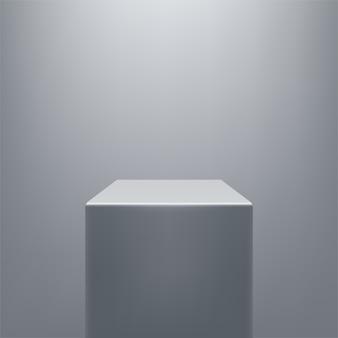 Modello di piedistallo grigio realistico semplice astratto.