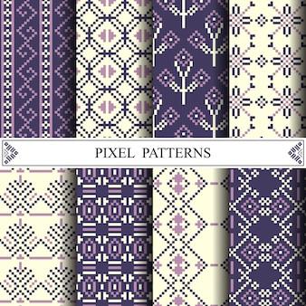 Modello di pixel tailandese per fare tessuto tessile o sfondo della pagina web.