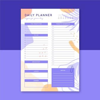 Modello di planner giornaliero