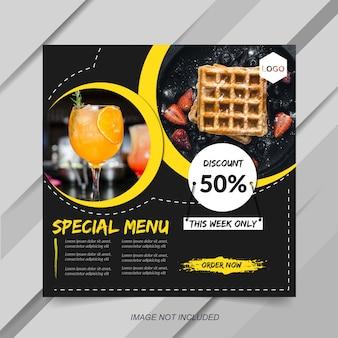 Modello di post di instagram alimentare e culinario