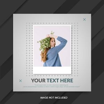 Modello di post di instagram di vendita di moda minimalista