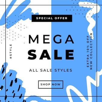 Modello di post di instagram di vendita