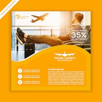 Modello di post di social media agenzia di viaggi