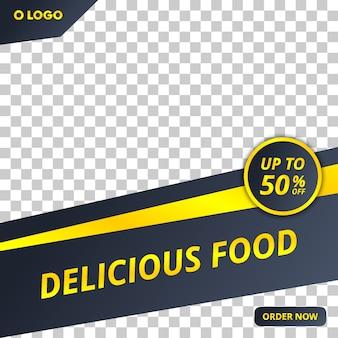 Modello di post di social media alimentare modificabile con stile moderno
