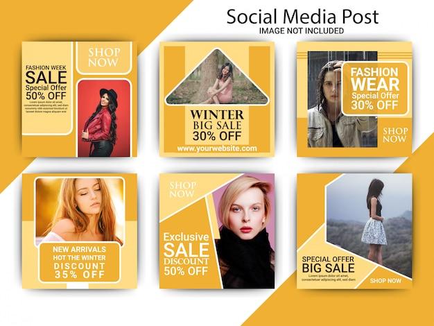 Modello di post di social media aziendali