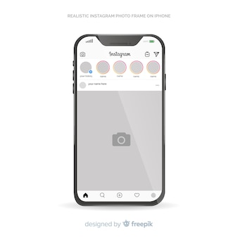 Modello di post instagram su iphone