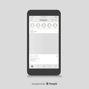Modello di post instagram su iphone