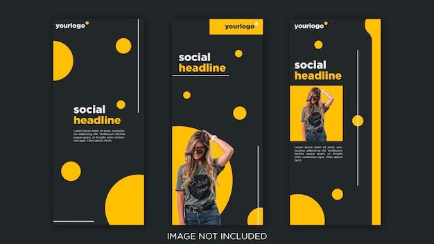 Modello di post social media minimalista, storie di instagram