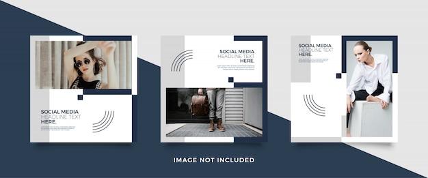 Modello di post social media minimalista