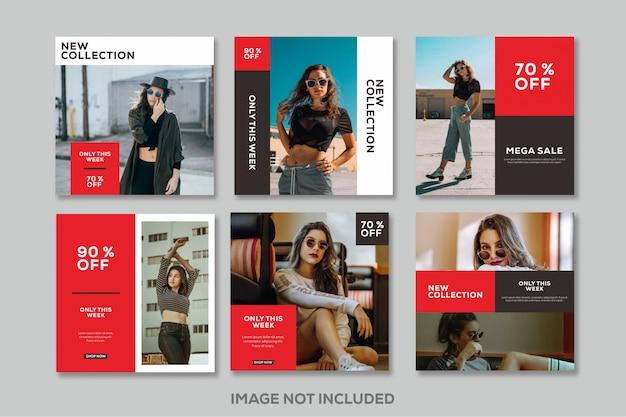 Modello di post social media moda