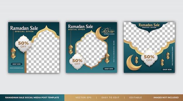 Modello di post social media vendita ramadan