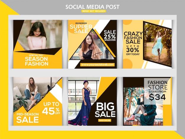 Modello di post su instagram dei social media