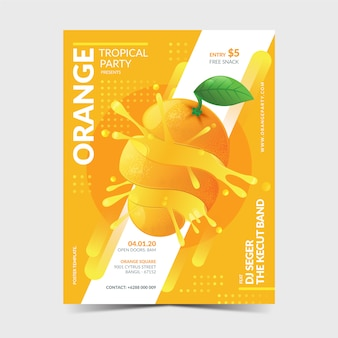 Modello di poster arancione