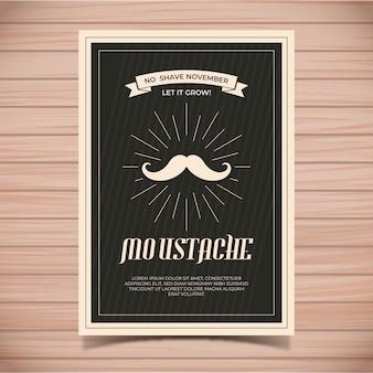Modello di poster baffi movember