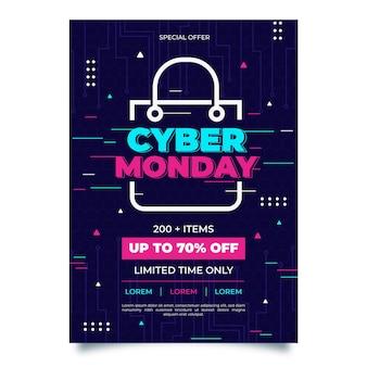 Modello di poster creativo cyber lunedì con offerta speciale