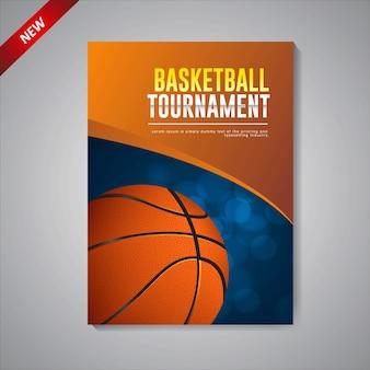 Modello di poster del torneo di basket