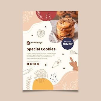 Modello di poster di biscotti
