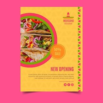 Modello di poster di cibo messicano