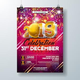 Modello di poster di festa di capodanno