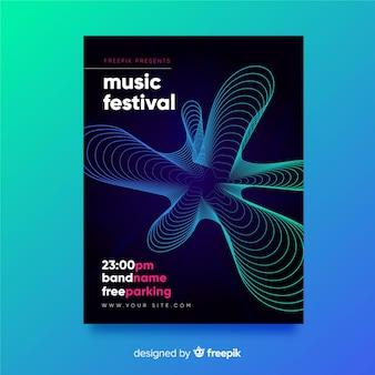 Modello di poster di musica astratta