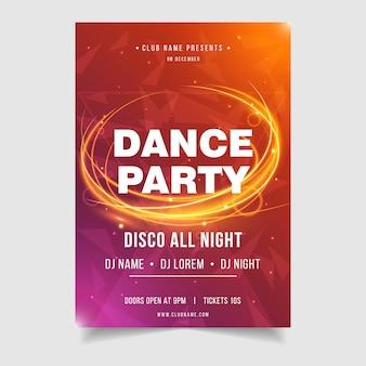 Modello di poster di musica dance party night event