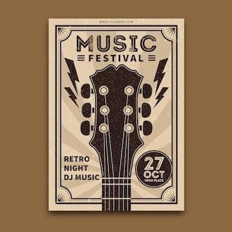 Modello di poster di musica retrò