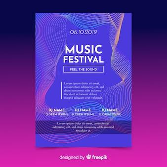 Modello di poster di musica