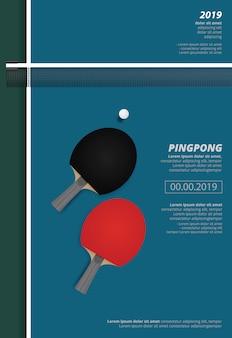 Modello di poster di pingpong