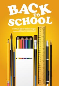 Modello di poster di ritorno a scuola