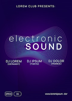 Modello di poster di suono elettro