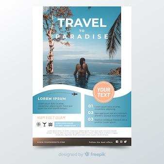 Modello di poster di viaggio con immagine
