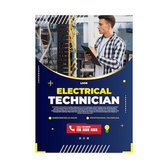 Modello di poster elettricista