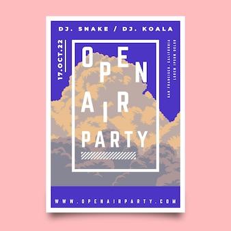Modello di poster festa all'aperto