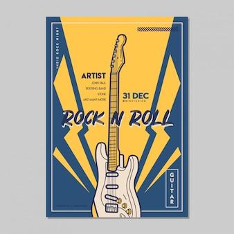 Modello di poster musicali